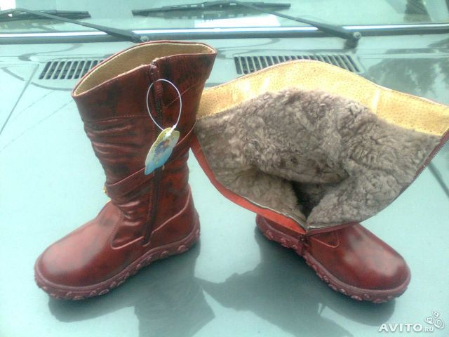 Продаю зимние сапоги Капитошка из натуральной кожи на натуральн