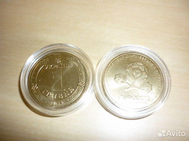 89061815336 Монета 1 гривна Чемпионат Европы по футболу 2012