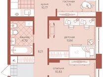 3-к квартира, 62 м², 2/4 эт. — Квартиры в Тюмени
