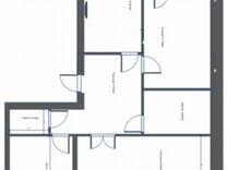 3-к квартира, 104 м², 3/9 эт.