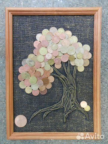 Дерево из монет картина 93
