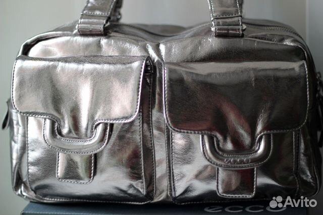 1b7eccb34444 Новая кожаная сумка Экко цвета металлик купить в Новосибирской ...