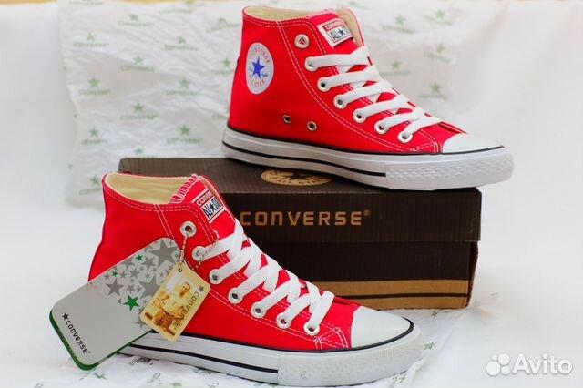 6302259f Кеды Converse Chuck Taylor All Star красны высокие купить в Санкт ...