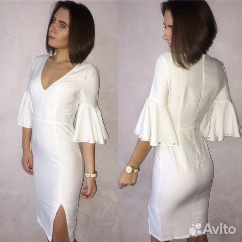 4cf2516d370 Белое платье с кружевом и стразами