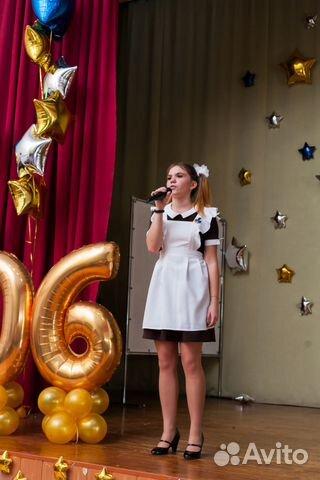 Коричневое платье с белым фартуком купить в Москве на Avito ... e3f89a66c40