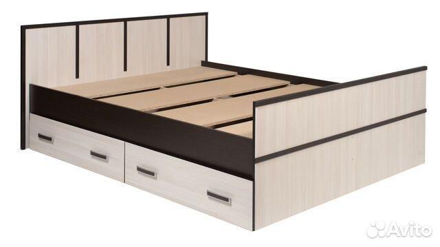 436228b15301d Кровать с ящиками Сакура 1.4м купить в Санкт-Петербурге на Avito ...