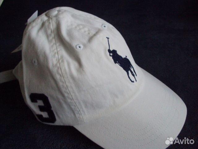 Кепка Polo Ralph Lauren big pony Белый  28451553a4e54