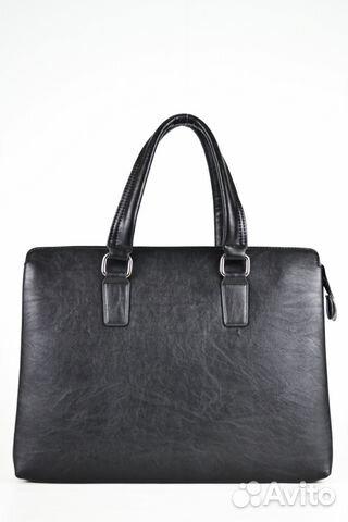 b9a53fedba14 Кожаная мужская сумка для документов А4 черная | Festima.Ru ...