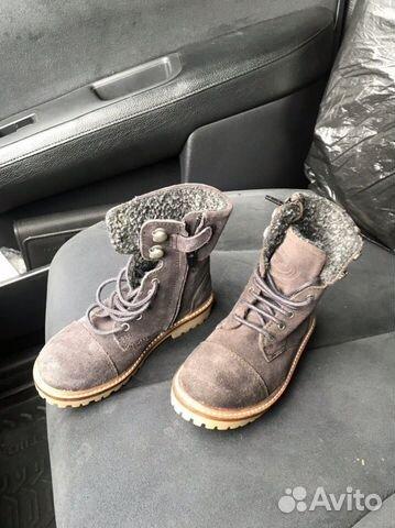 Новые замшевые ботинки С мехом zara 89280678120 купить 6