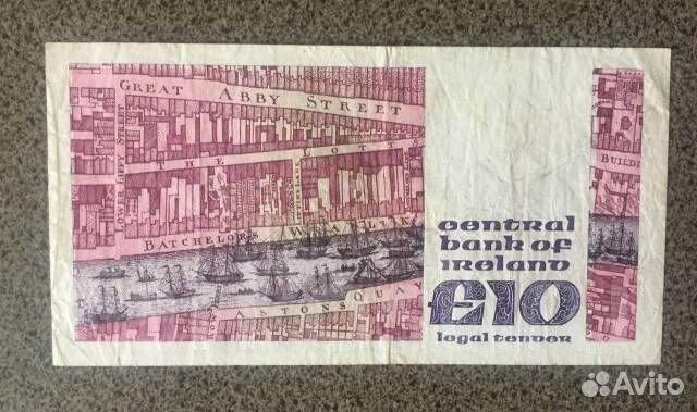 10 фунтов 1986 года. Ирландия. Состояние Оригинал купить 2