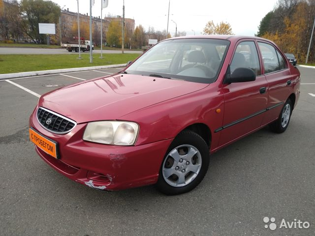 Hyundai Accent 1.5 МТ, 2004, седан