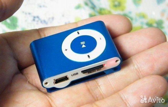 84942303606 Компактный MP3 плеер без дисплея синий