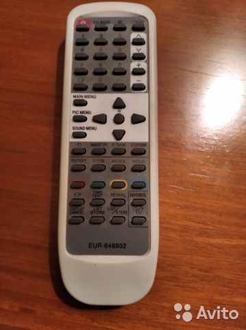 Пульт для тв Panasonic EUR 646932 универсальный