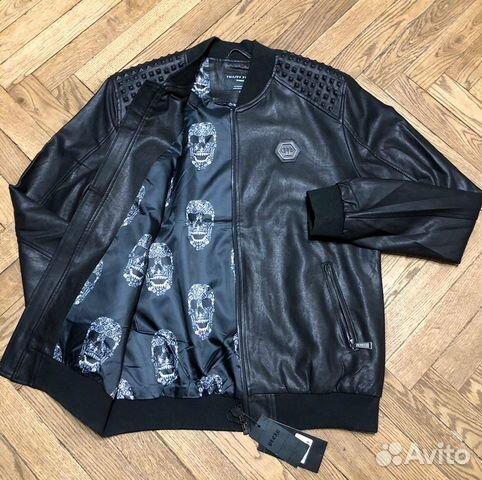 Кожаная куртка Plein  89254615655 купить 1