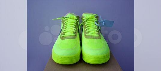 3c9d8824 Кислотные кроссовки Nike x Off-White Air Force 1 купить в Москве на Avito —  Объявления на сайте Авито