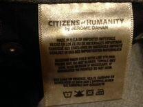 Джинсы Citizens of humanity USA(33) серые — Одежда, обувь, аксессуары в Москве