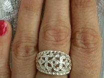 Новое узорчатое широкое серебряное кольцо