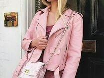 Куртка розовая косуха