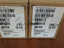 SAS диск HP 300g 10K 2.5 новый
