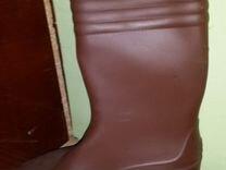 Новые резиновые сапоги р.39,5