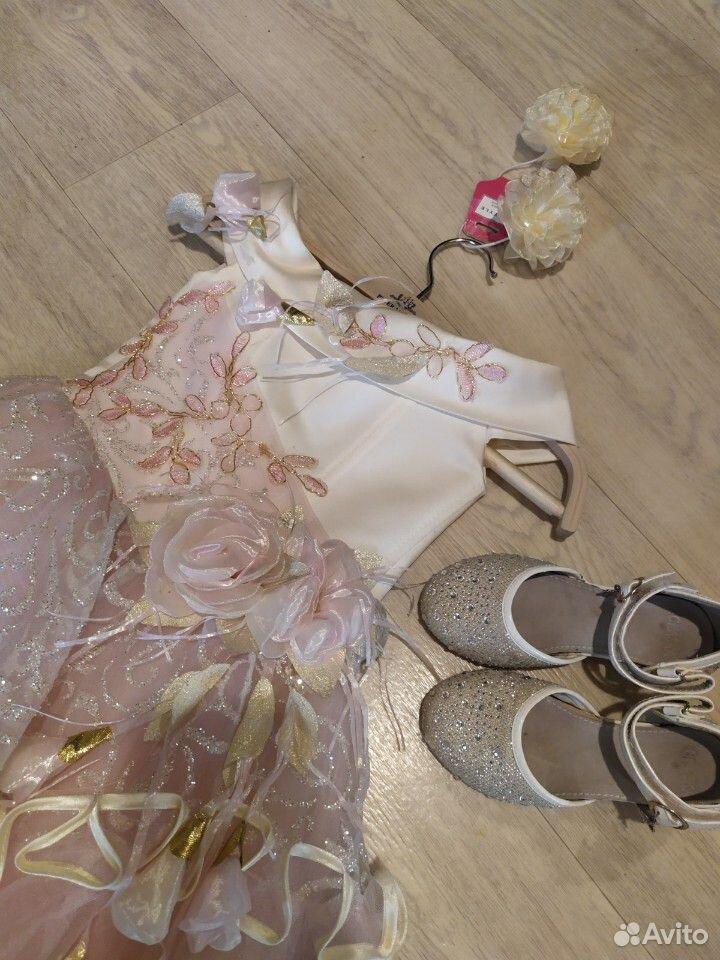 Красивейшее нарядное платье для принцессы+туфли  89854569556 купить 3