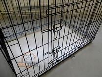 Клетки для собак/кошек, складные, поддон, 2 двери