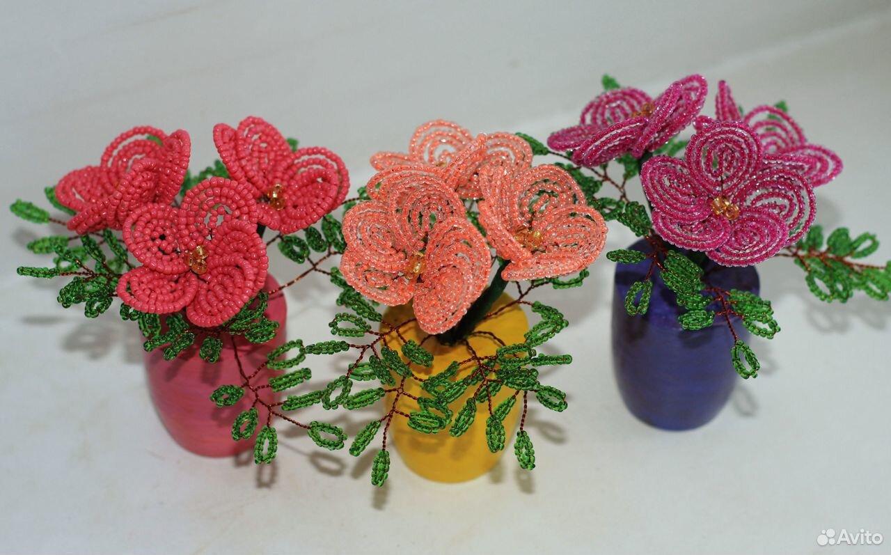 Цветы из бисера. Тюльпаны. Розы  89083089399 купить 5