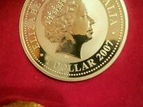 Монета 1 доллар Австралия