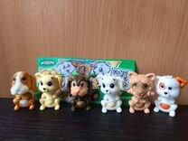 Серия собак с пузиком и голодные животные