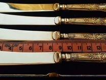 Набор антикварных ножей. Серебро. Европа. В родном