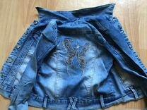 Джинсовая куртка на девочку 10-12 лет