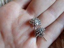 Серёжки- гвоздики серебряные — Часы и украшения в Геленджике