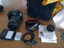 Фотоаппарат canon 550 d +18-135. обмен на объектив