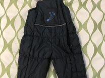 Зимние брюки полукомбинезон р. 80